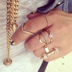 Ring layering no rules make your own style & stack. Mine today   #vitafede #rings #stacks #swarovski #fashion