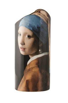 Silhouette de Art Johannes Vermeer Girl with Pearl Earring Porcelain Vase