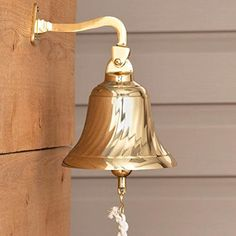 Naiture Solid Brass Spiral Dinner Bell In Polished Brass Brass Finish ** You can get more details by clicking on the image.