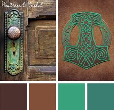 Take inspiration in the more sublime color qualities that age brings in this Weathered World color inspiration.