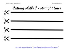 pre-k scissor skills activities | Cutting Skills Printables Worksheets collection | Attention WorkSheets