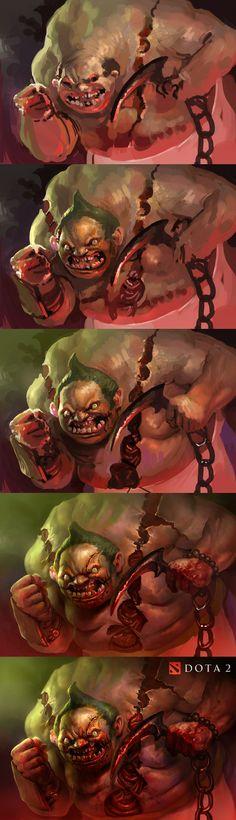 Evolution of a terror Mike azevedo #CG #creaturedesign