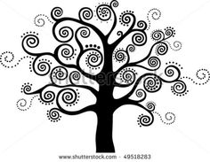 Abstract black tree isolated on White background. by Kalenik Hanna, via Shutterstock Coloring Books, Coloring Pages, Doodles, Black Tree, Doodle Designs, Blossom Trees, Book Images, Autumn Trees, Types Of Art