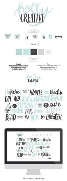Branding and Logo Design Concept for Holly McCaig, Illustrator and Designer out of Denver, Colorado.