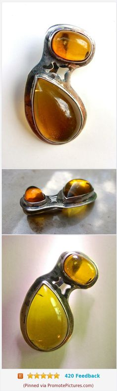 Amber Modernist Bio Morphic Sterling Silver Pendant, 2 Cabochons, Vintage #pendant #balticamber #sterlingsilver #modernist #biomorphic #vintage https://www.etsy.com/renaissancefair/listing/553992948/amber-modernist-bio-morphic-sterling?ref=listings_manager_grid  (Pinned using https://PromotePictures.com)