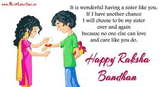 Beautiful 15 Happy Raksha Bandhan Images for Sister 2018 with Message Miss Me Quotes, Sister Love Quotes, Love My Sister, Birthday Wishes For A Friend Messages, Wishes For Sister, Rakhi Greetings, Happy Raksha Bandhan Images, Raksha Bandhan Greetings, Happy Rakhi