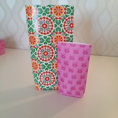 How to Make Pretty Paper bags! #how-to #art #crafts