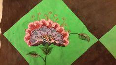 réalisée à partir d'une broderie de Christine Démenais http://www.descouleursetdesfilles.fr