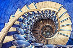 """Magic Staircase"" – Tony Antoniou - 15 Mesmerizing Examples of Spiral Staircase Photography Fibonacci Spiral, Take The Stairs, Magic Circle, Stairway To Heaven, Magic Art, Staircase Design, Amazing Architecture, Interior Architecture, Stairways"