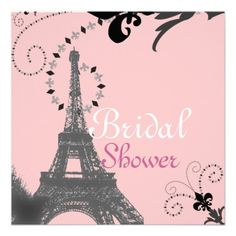 21 best paris themed bridal shower invitations images on pinterest french eiffel tower vintage paris bridal shower invitation filmwisefo