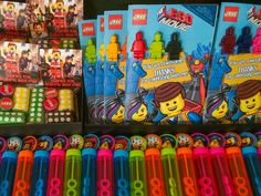 Lego Movie Activity and coloring book with mini figure crayons