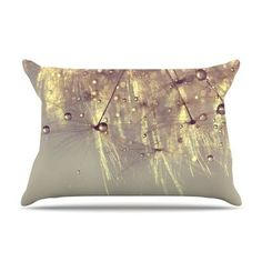 KESS InHouse Sparkles of Gold by Ingrid Beddoes Featherweight Pillow Sham Size: King, Fabric: Woven Polyester