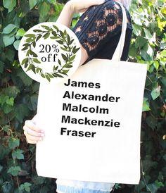 Outlander Tote Bag  JAMMF  James Alexander by AlohomoraDesign