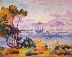 Henri Edmond CROSS  Antibes Afternoon 1908  Aire urbaine de Nice  Alpes-Maritimes  Provence-Alpes-Côte d'Azur