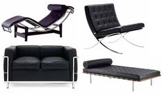 Le Corbusier Furniture   Barcelona Chair, Le Corbusier, Chaise Lounge - Silver Overseas Limited