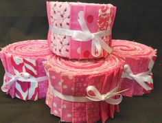 Pink Quilt Fabric Strips Jelly Roll kits by SEWFUNQUILTS