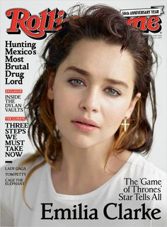 Emilia Clarke on the cover of Rolling Stone