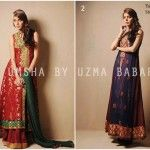 Umsha by Uzma Babar New Heritage Winter Collection 2014 For Ladies