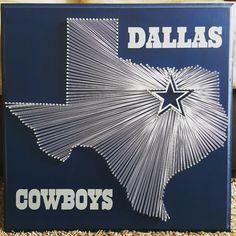 "20"" x 20"" Dallas Cowboys string art"