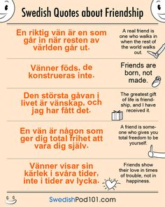Swedish quotes about Friendship
