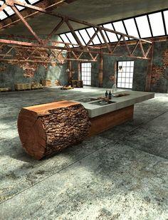 Oak Concrete Kitchen by Werkhaus                                                                                                                                                                                 Mehr