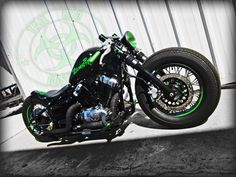Zombie Performance Strap-On's Clip on handlebars on Tail End Custom's Zombie Motorcycle.