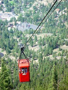 Overlook of Estes Park in Aerial Tram.