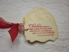 Christmas Gift Tags  Christmas Waves a Magic Wand  by wkburden, $5.99