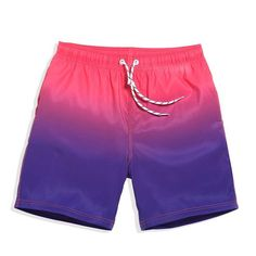 IMPORTED TRADITIONS . Men's Quick-Drying Boxer Swimsuits . Sunrise