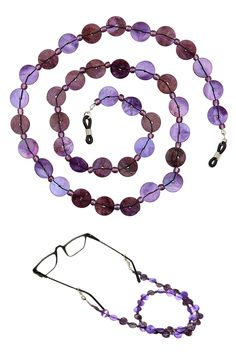 Get more Purple in your Life!Beaded Shell Eyeglass Chain Holder, Necklace…