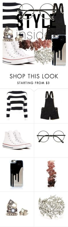 """""""Street Style"""" by katemoly on Polyvore featuring Boutique Moschino, Hollister Co., Converse, L.A. Girl, Oscar de la Renta, outfit and Street"""