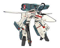 Macross Gerwalk by on deviantART Macross Valkyrie, Robotech Macross, Power Rangers, 80 Tv Shows, Japanese Anime Series, Super Robot, Flat Illustration, Me Me Me Anime, Gundam