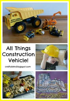 All Things Construction Vehicle (from Craftulate)