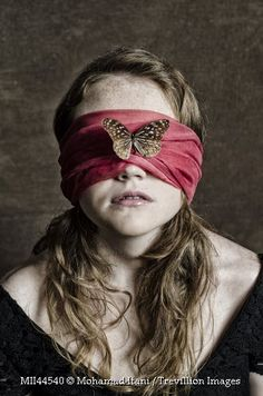 This represents how Miranda was held captive like one of Clegg's butterflies, alone in the dark.