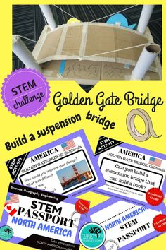 Travel to famous North American Landmarks with these STEM Engineering Challenges, Activities and Task Cards. Immerse your students in science and engineering when they explore - The Hoover Dam, Big Island Volcanoes, Golden Gate Bridge, Lake Pontchartrain Causeway, CN Tower Toronto, White Pass & Yukon Route Railway.