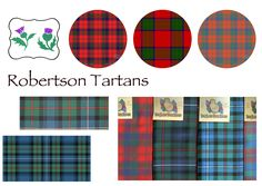 Modern {red} | Ancient {muted/modern&hunting} | Hunting {blue/green} | Classic {red/non traditional?} Robertson Tartan, My Heritage, Blue Green, Hunting, Traditional, Classic, Modern, Red, Color