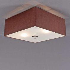 Deckenleuchte Drum 35 quadratisch braun #Deckenlampe #Lampe #Innenbeleuchtung