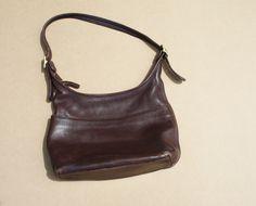 1970s Brown Leather Coach Vintage Designer Bag