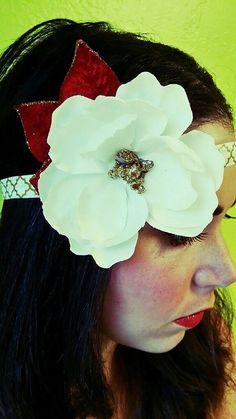 Boho Headband-Flower Headband-Glitter by TheJeweledFeather on Etsy