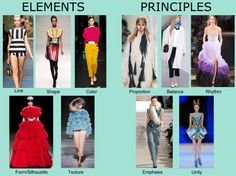 Elements And Principles of Fashion Design Fashion Design Elements Fundamentals Principles Line Shape Color Form Texture Balance Harmony = Unity Rhythm Proportion Emphasis