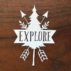 Explore by Cindy Bean - Papercutting Template