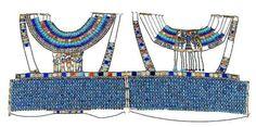 Collar real en exibición en el Museo de Egipto utilizado por Reinas y faraones de oro y otros piedra preciosas cuyo valor es incalculable y exclusivo.