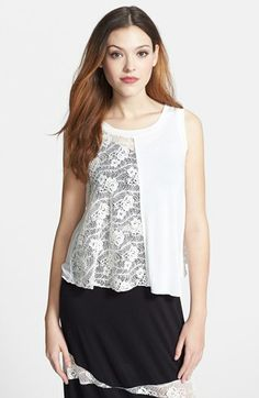 Nikki Rich Crisscross Lace & Jersey Top available at #Nordstrom