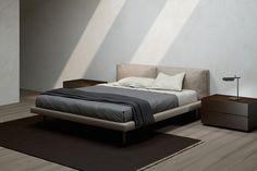 EmmeBi - GHOST Ghost ist ein Polsterbett  bedeckt mit weichem Leder oder mit verschiedenen Arten von Stoffen. Bedroom Furniture, Cribs, Life Is Good, Designer, Inspiration, Beds, Home Decor, Bedrooms, Products