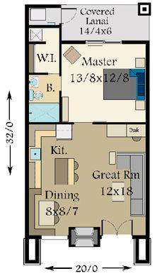 Plan 85105MS: Tiny Modern House Plan With Lanai