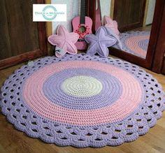 Crochet Mat, Crochet Carpet, Crochet Rug Patterns, Crochet Round, Doily Patterns, Crochet Home, Crochet Sunflower, Crochet Flowers, Crochet Mandela