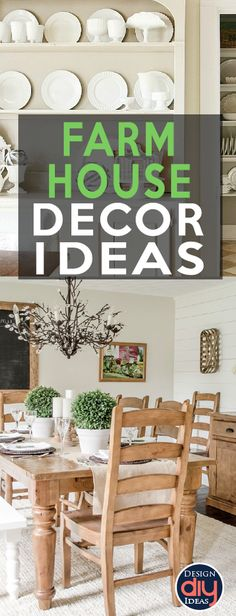 Farmhouse home decor is taking the design industry by storm, as it should! Check out these beautiful farmhouse DIY ideas for your home decor.