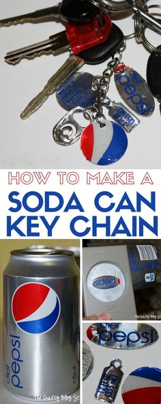 How to make a simple soda can key chain using your favorite pop! An easy DIY craft tutorial idea that will impress your friends!