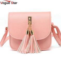 a2517937a4535 Vogue Star Fashion 2018 Small Chains Bag Women Candy Color Tassel Messenger  Bags Female Handbag Shoulder Bag Flap Women Bag LA33-in Shoulder Bags from  ...