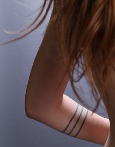 hand tattoos for women #15 Minimal bracelet tattoos on forearm